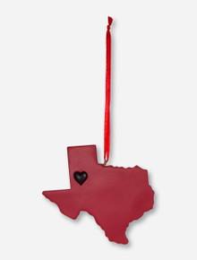 Texas Tech Red Raiders Heart Lubbock Ornament