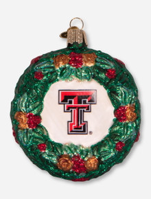 Texas Tech Red Raiders Glass Blown Wreath Ornament