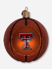 Texas Tech Red Raiders Glass Blown Basketball Ornament