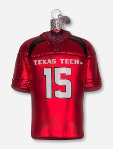 Texas Tech Red Raiders Glass Blown Jersey Ornament
