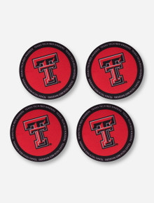 Texas Tech Red Raiders 4 Pack Neoprene Double T Coasters