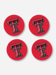 Texas Tech Red Raiders 4 Pack Neoprene Double T Car Coasters