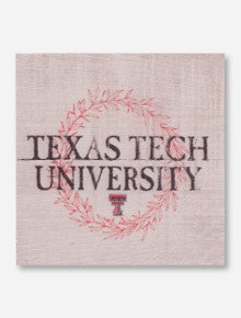 Texas Tech University Wreath Wooden Magnet