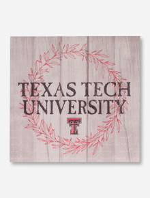 Texas Tech University Wreath Plank Wall Sign