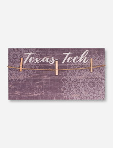 Texas Tech Red Raiders Mandala Plank Picture Hanger