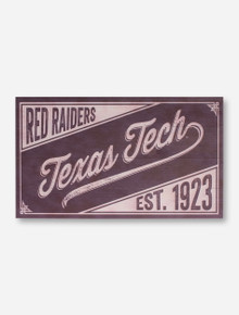 Texas Tech Red Raiders Vintage Wood Sign