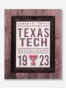 Texas Tech Red Raiders Lubbock Est. 1923 Wood Sign