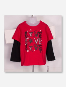 "Arena Texas Tech Red Raiders ""Love Love Love "" TODDLER Long Sleeve"