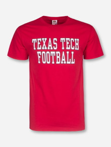 Texas Tech Football Stack on Red T-Shirt