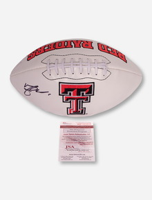 Texas Tech Logo Football Signed by Michael Crabtree
