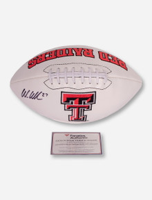 Texas Tech Logo Football Signed by Wes Welker