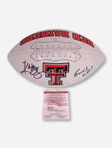 Texas Tech Logo Football Signed by Kliff Kingsbury
