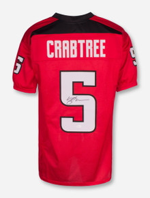 Texas Tech Michael Crabtree Signed #5 Red College Style Jersey