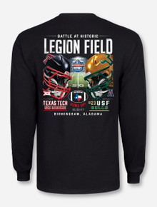 "Texas Tech Red Raiders vs. USF Birmingham Bowl ""Dueling Helmets"" Long Sleeve"