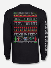 "Texas Tech Red Raiders vs. USF Birmingham Bowl ""Ugly Christmas Sweater"" Long Sleeve"
