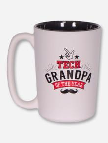 Texas Tech Red Raiders Grandpa of the Year Two Tone Coffee Mug