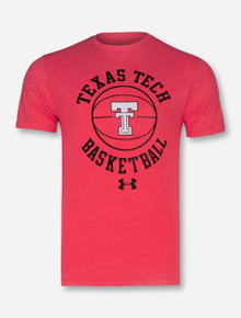 "Under Armour 2017 Texas Tech Red Raiders ""Throwback Basketball"" T-Shirt"