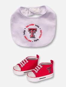 Texas Tech Red Raiders Baby Bib and Shoe Set
