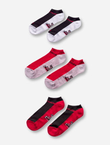 47 Brand Texas Tech Sportlite 3-Pack of No-Show Socks