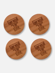 Texas Tech Red Raiders  Bamboo Coasters Set