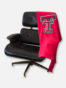 Logo Texas Tech Red Raiders Double T Sweatshirt Blanket
