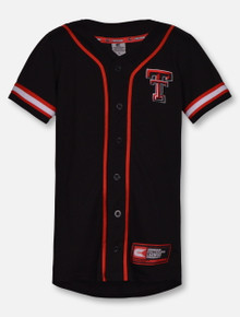 "Arena Texas Tech ""Play Ball"" YOUTH Black Baseball Jersey"