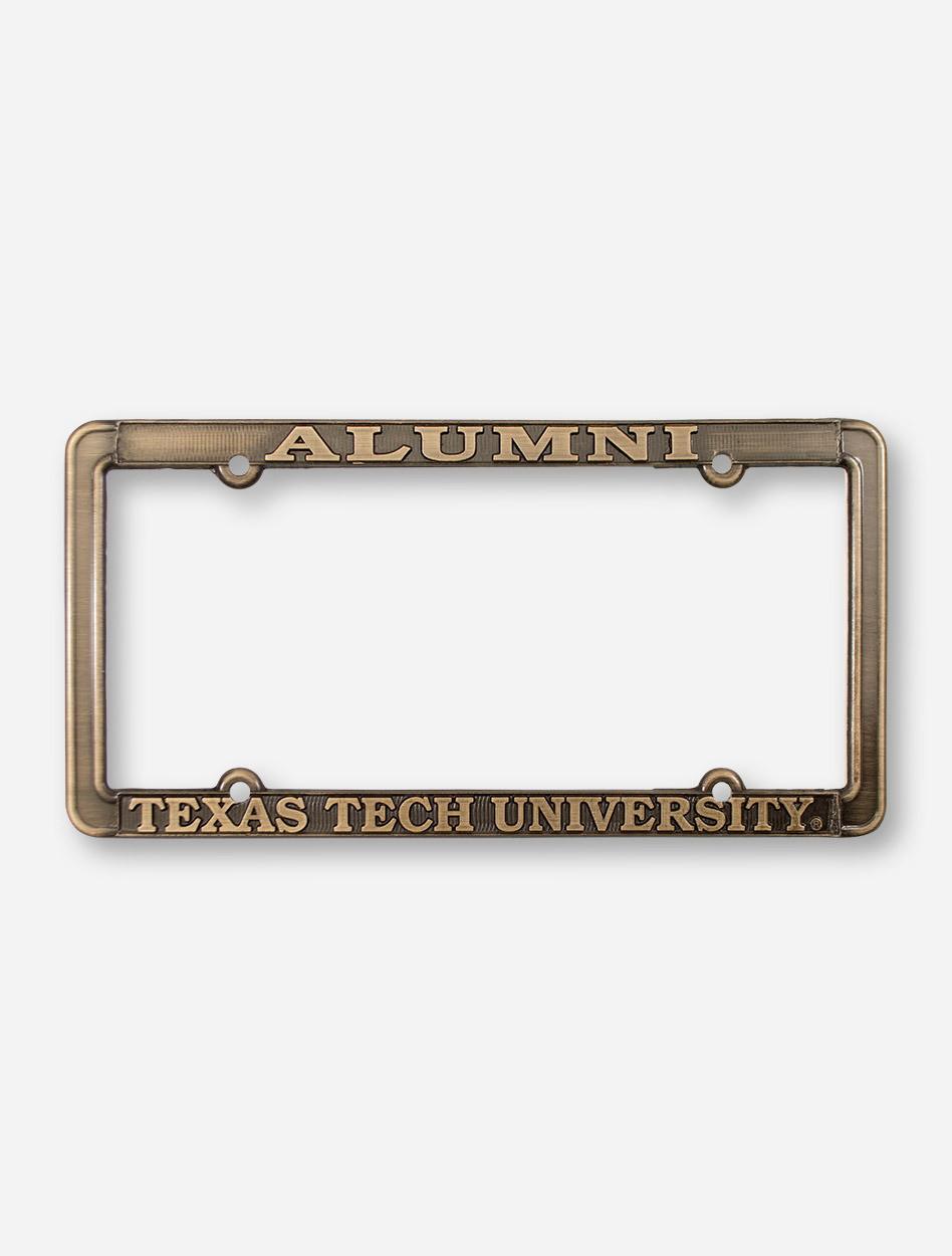Alumni / Texas Tech University Antique Brass License Plate Frame ...