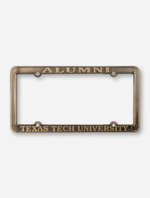 Alumni / Texas Tech University Antique Brass License Plate Frame