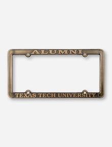Alumni / Texas Tech University Antique Brass License Plate Frame