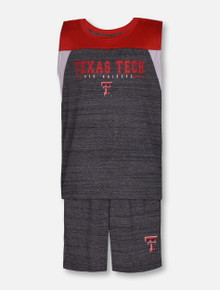 "Arena Texas Tech Red Raiders ""Titan of Terror""  Grey and Red Short Set"