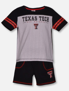 "Arena Texas Tech Red Raiders ""Great Bambino""  White and Black Short Set"