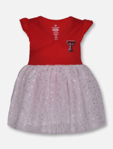 "Arena Texas Tech Red Raiders ""L-Seven"" INFANT White Tutu Onesie"