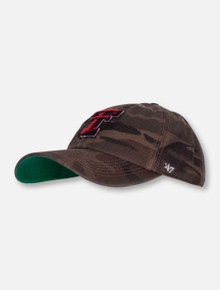 47 Brand Texas Tech Red Raiders Camo with Double T Fitted Cap