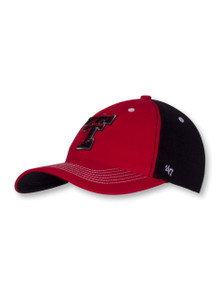 47 Brand Texas Tech Red Raiders Double T Red and Black Fit Cap