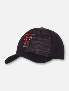 "Top of the World Texas Tech Red Raiders ""Obsidian"" Stretch Fit Cap"