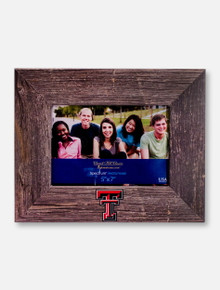 "Churchill Classics Texas Tech Red Raiders Double T Barnwood 5""x7"" Horizontal Frame"