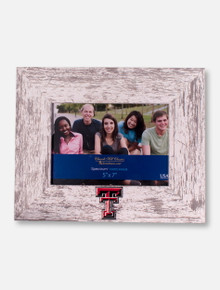 "Churchill Classics Texas Tech Red Raiders Double T Barnwood White Washed 5""x7"" Horizontal Frame"