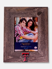 "Churchill Classics Texas Tech Red Raiders Double T Barnwood Grey Washed 5""x7"" Vertical Frame"