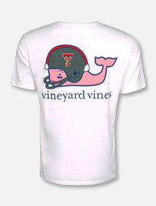 Vineyard Vines Texas Tech Red Raiders Football Whale with Helmet T-Shirt (PRE-ORDER)