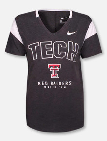 Nike Texas Tech Red Raiders Tech Block V-Neck T-Shirt