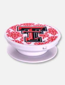 Mee Too Texas Tech Red Raiders Damask Pop Socket Grip Stand