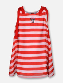 """Garb Texas Tech Red Raiders """"Olive """" YOUTH Striped Dress"""
