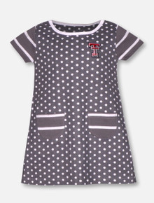 "Garb Texas Tech Red Raiders ""Penny"" TODDLER Polka Dot Dress"