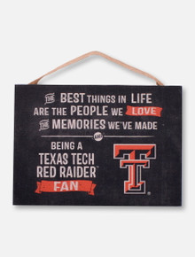 """Texas Tech Red Raiders """"Best Things In Life""""  Wall Art"""