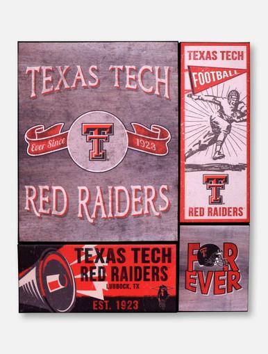 Texas Tech Red Raiders Vintage Banner Canvas Set Wall Art