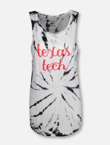 "Pressbox Texas Tech Red Raiders ""Blair"" Tie-Dye Tank Top"