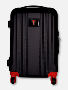 Texas Tech Red Raiders Double T Hardcase 2-Toned Carry-On Travel Suitcase