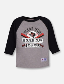 "Champion Texas Tech Red Raiders ""Grand Slam"" YOUTH 3/4 Sleeve Reglan T-Shirt"