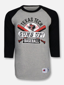 "Champion Texas Tech Red Raiders ""Grand Slam""3/4 Sleeve Reglan T-Shirt"