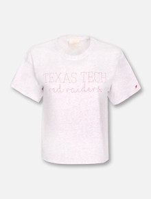 League Texas Tech Red Raiders Script Crop Top T-Shirt